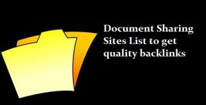 High PR Do follow Document Sharing Sites List