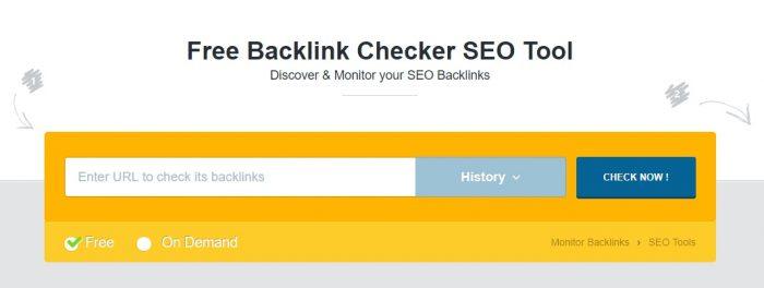 Monitorbacklinks - free backlinks checker tools