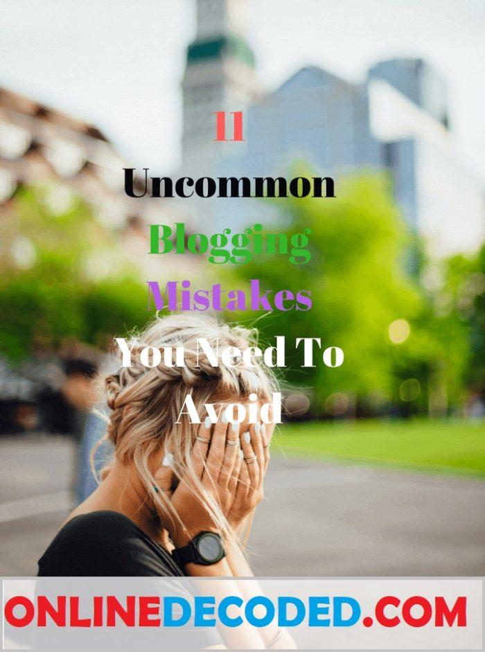 Uncommon Blogging Mistakes