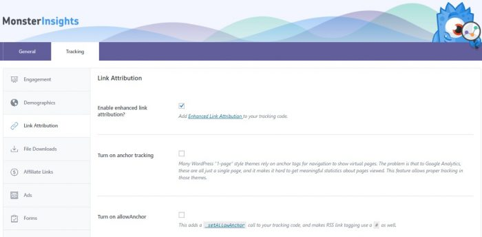 Enhanced Link Attribution - Monster Insights Review