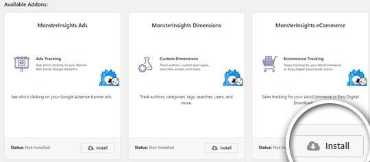 Installing-ecommerce-addon-on-Monsterinsights