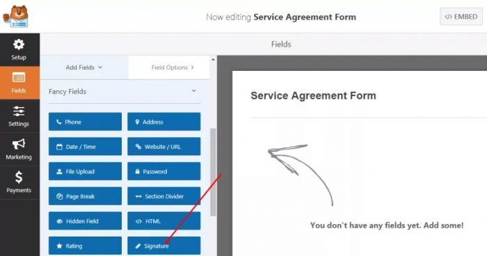 adding-signature-field-to-the-form