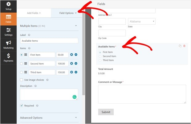 customizing-the-order-form